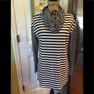 Merona tunic top Awesome Black & White Size Large